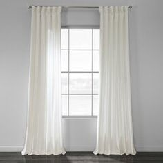 The newest Sanger Solid Country Cotton Linen Weave Rod Pocket Single Curtain Panel is offered in several natural colors to add a touch of casual sophistication to your decor. White Linen Curtains, Cool Curtains, Lined Curtains, Grommet Curtains, Curtain Fabric, Kilim Beige, Casual Decor, Curtain Styles, Custom Drapes