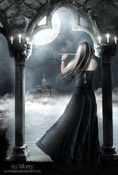 :Im Mondschein:. by Morteque on DeviantArt Dark Beauty, Beauty Art, Gothic Beauty, Gothic Artwork, Gothic Wallpaper, Gothic Pictures, Gothic Fantasy Art, Dark Spirit, Dark Princess