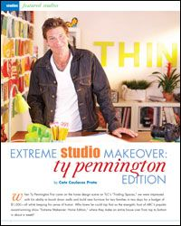 Art Studio Organization: Extreme Studio Makeover: Ty Pennington Edition
