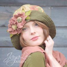 Cloche Hat Wide Brim Floppy Hat Bucket Hat by GreenTrunkDesigns