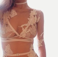 Orchid Bondage Bralette and Orchid Maxi Dress via forloveandlemons