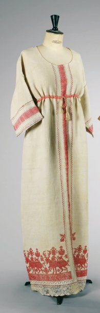 Day Dress Made Of Linen, Pink Silk Tape, Embroidery And Openwork - Made By Paul Poiret, France c.1911–1912-