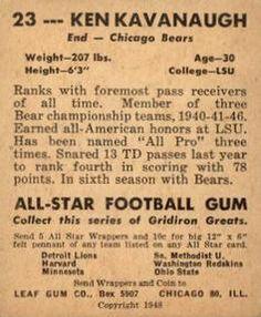 1948 Leaf #23 Ken Kavanaugh Back