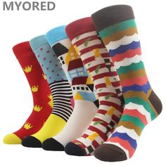 1 Pair Soft Socks Blue Eye Cotton Socks Creative Colorful Striped Dot Pattern Jacquard Art Casual Socks For Men 19cm Easy To Use Underwear & Sleepwears
