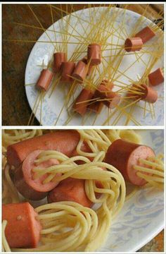 Squid dogs.  The kids would love this!  Boil 8 min.