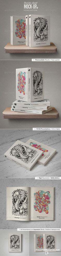 Book Mock-Up Set – 2 » Graphicriver free . Free Download Psd Source , Tutorials , Vectors  ...