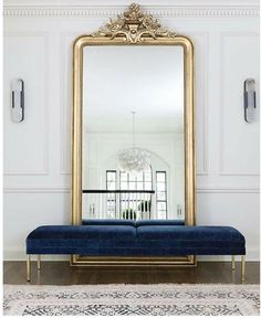 Navy and Gold Dining Room Ideas – Home Decorating Ideas Living Room Mirrors, Living Room Decor, Bedroom Decor, New Interior Design, Interior Decorating, Apartments Decorating, Decorating Bedrooms, Decorating Ideas, Decor Ideas