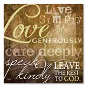 Live Simply Typography Wall Decor