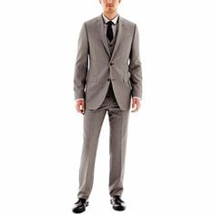 JF J. Ferrar® Gray Slim-Fit Suit Separates - jcpenney $130 cheaper than renting??