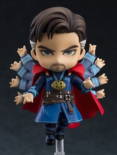 """From Avengers: Infinity War comes Doctor Strange! From """"Avengers: Infinity War"""" comes a Nendoroid of Doctor Strange! The Nendoroid features full articulation as well as three interchangeable face plates to capture various scenes from the movi. Chibi Marvel, Marvel Heroes, Marvel Avengers, Chibi Spiderman, Doctor Strange Avengers, Eye Of Agamotto, Avengers Wallpaper, Dr Strange, Good Smile"""