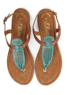 aquamarin und rosa leder flache sandale sommer sandale thong sandalen sandalen flat. Black Bedroom Furniture Sets. Home Design Ideas