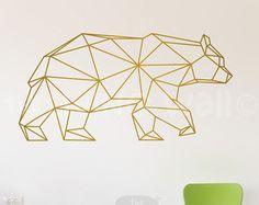 Géométrique coeur Wall Decals Home Decor amovible en vinyle