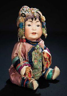Let the Music Begin!: 19 Wonderful German Bisque Chinese Baby,Model 243,Kestner,Original Gump's Costume
