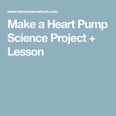 Make a Heart Pump Science Project + Lesson