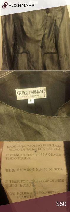 SPRING SALE Giorgio Armani silk jacket Luxurious grey silk Giorgio Armani jacket in excellent condition. Giorgio Armani Jackets & Coats