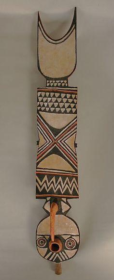 Plank Mask, fish, Burkina Faso, Bwa people made this mask