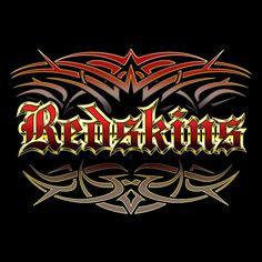 3d71b44e3 NEW Redskins tattoo style men s black T-shirt Washington X-LARGE XL