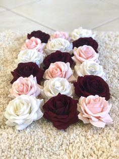 Excited to share this item from my shop: Burgundy and Blush Roses, Burgundy, Blush, and Cream Burgundy Flowers, Blush Flowers, Cream Flowers, Cream Roses, Silk Roses, Diy Flowers, Blush Centerpiece, Bridal Shower Centerpieces, Flower Centerpieces