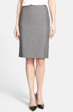 Halogen® 'Impulse' Pencil Suit Skirt (Regular & Petite) available at #Nordstrom - good for work