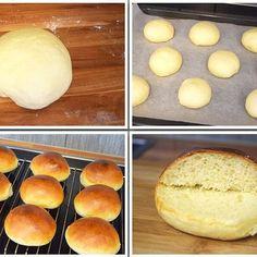 frische Buns für Burger #recipes #Kochblog #Rezepte #NomNom #Foodporn #Kochrezepte #FoodBlog Food Porn, Burger Buns, Hamburger Buns, Baked Goods, Fresh, Bread, Cooking Recipes, Cooking, Ideas