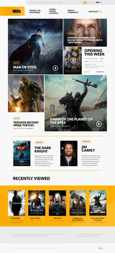 IMDB: Redesign - by Andrew Miron | #ui #webdesign