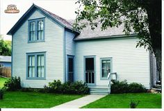 Ingalls Home after the addition of the basement in De Smet, South Dakota #LauraIngallsWilder