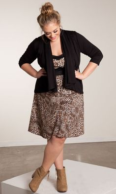 Nellie Halter Dress and Open Cardigan - SWAK designs Big beautiful curvy real women, real sizes with curves, accept your body sizes, love yourself no guilt, plus size, body conscientiousness fashion, Fragyl Mari embraces you!