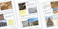 Rocks and Soils Fact Sheets Primary Resources, Student Learning, Social Studies, Geography, Lesson Plans, Facts, Map, Activities, How To Plan