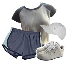 sponsored by angeell on Polyvore featuring Louis Vuitton and NIKE