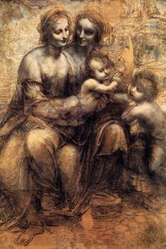 Mary, Christ, St. Anne, And The Infant St. John, by Leonardo da Vinci
