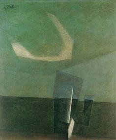 by Lyonel Feininger (German/American 1871-1956)