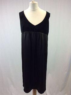 43c0b034645 BNWT Toast - Size 10 - Ladies Black Olive Cotton Silk Empire Line Dress RRP  135
