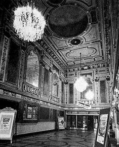 Lobby of Rochester's Old RKO Palace Theater. 71 Clinton Avenue. Opened in 1928, demolished in 1965.