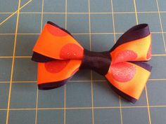 Halloween Minnie Mouse Bow Barrette by MeridaMerchandise on Etsy, $5.00