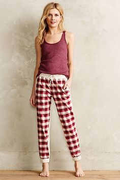 Anthropologie PLAID PANEL LOUNGERS #anthrofave