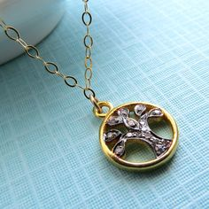 Diamond Tree of Life Necklace Family Jewelry by ShopSomethingBlue