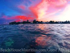 Sun Set ...Guest Photo Album of Holidays in Mauritius - real holiday pics | Beach House Mauritius