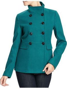 Women's Cropped Pea Coats | Old Navy  Paid $25 for this coat.  I loved the color so much!