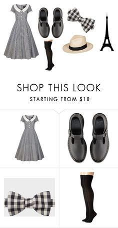 """Madeline Inspired Outfit"" by pashaski on Polyvore featuring Collectif, Dr. Martens, Paul Smith, Steve Madden and Roxy"