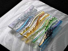 Contemporary Glass Wall Art, Fused Glass & Metal Wall Art, by Kim ...