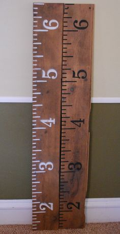 Child Growth Chart in Barnwood Flooring by T2ReclaimedWoodworks, $45.00