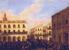 Joaquín Domínguez Becquer. Sevilla, 1817- 1879 . Tío de los hermanos Valeriano y Gustavo Adolfo Becquer, primo de José Domínguez Bécquer, fue uno de los más importantes representantes del costumbrismo en la pintura sevillana del siglo XIX.