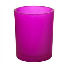 Hot Pink Frosted Votive Candle Holder by EscentialsOils on Etsy