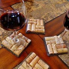 dessous verre bouchon bouteille vin