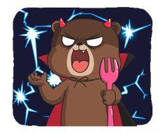 New Raikuma 2 L Anime, Anime Love, Gallo Claudio, Cute Couple Cartoon, Kawaii Illustration, We Bare Bears, Gif Pictures, Line Sticker, Time To Celebrate