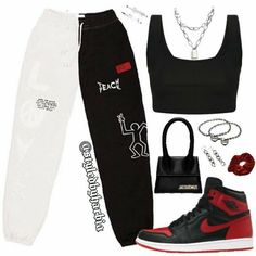 Swag Outfits For Girls, Cute Swag Outfits, Cute Comfy Outfits, Teenager Outfits, Teen Fashion Outfits, Retro Outfits, Stylish Outfits, Polyvore Outfits, Mode Kpop