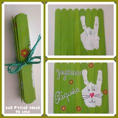 Carte de Pâques en bâtonnets de bois Easter Art, Hoppy Easter, Easter Crafts For Kids, Easter Holidays, School Holidays, Easter Activities, Art Activities, Craft Items, Diy Projects To Try