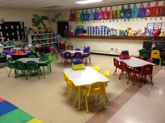 The teacher who has this classroom has a wonderful husband who bought these tables for her kids!