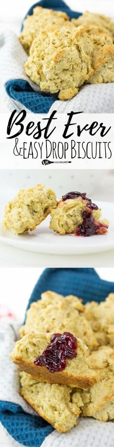 Gluten Free Drop Biscuits are by far the easiest and tastiest biscuits you'll ever make. Perfectly mimicking those bisquick biscuits I grew up on. (Gluten Free, Dairy Free friendly)