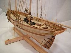 Winners of the 2011 Nautical Research Guild - Photographic Ship Model Competition - Apprentice Ship Modeler - Bronze Medal - William E. Sproul - La Jacynthe #miniatures #scalemodels